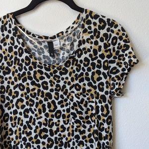 H&M Leopard Pocket T-Shirt Dress